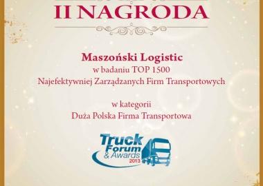 Maszoński Logistic - Laureat im Wettbewerb Top 1500